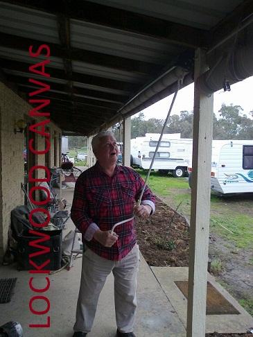 Lockwood Canvas Repairs - Geared Blind